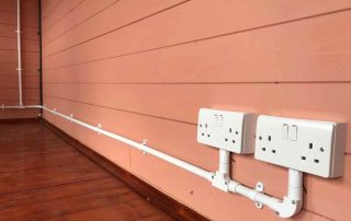Sockets wired in conduit